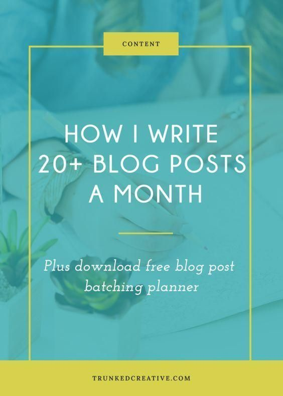 Write  Blog Post A Month