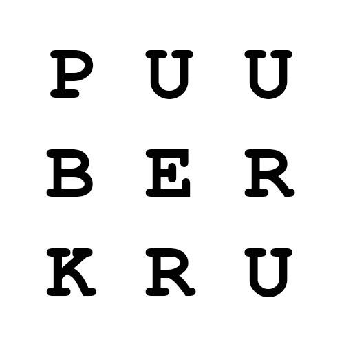 white & black simple logo
