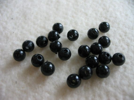 Black Eye Beads  502 by adelinescrafts on Etsy