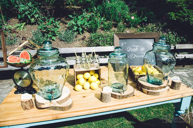 Watermelon & lemons refreshment table.