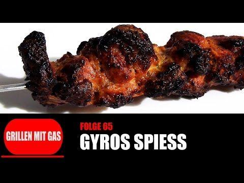 [Grillen mit Gas] #065 - Gyros Spiess [Rezepte für Q100-Q120-Q1100-Q1200-Q2200-Q3000-Q3200-] - YouTube