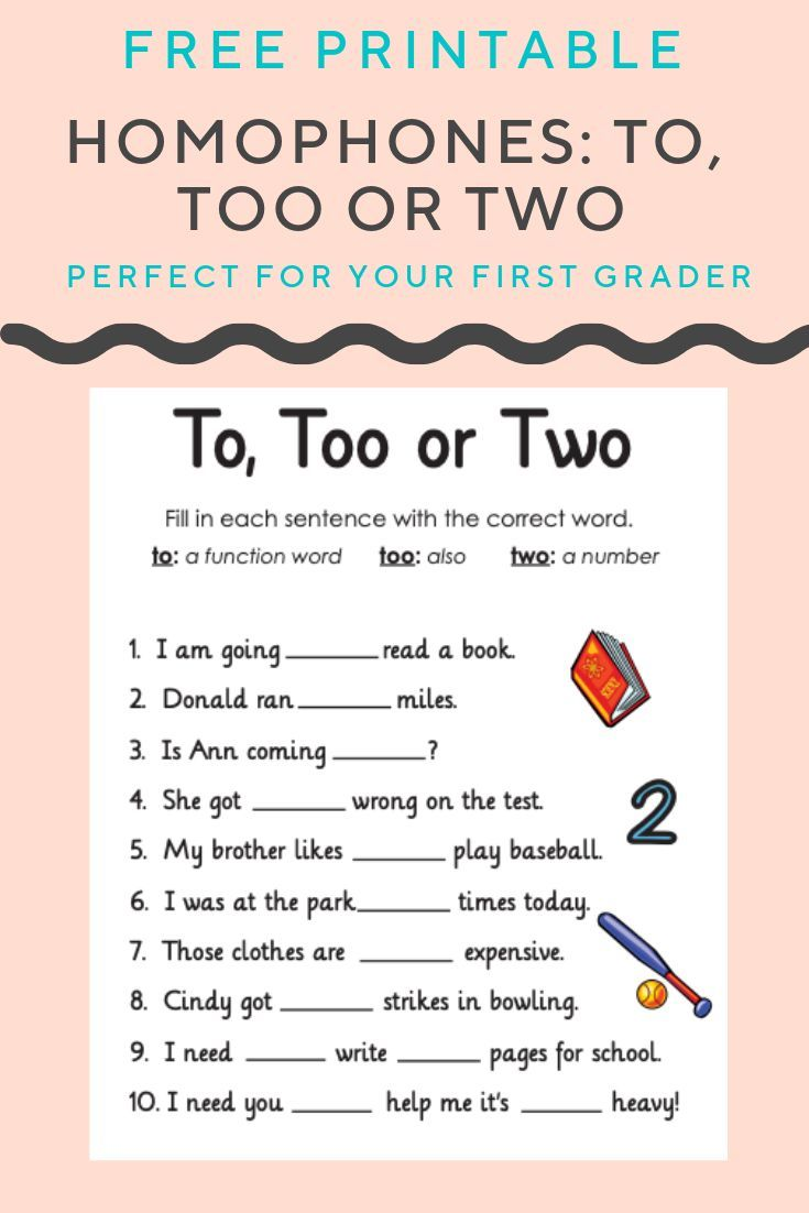 What S The Difference Between These Homophones With This Free Worksheet Your First Grader Will Determine Which Ide Homophones Writing School Teaching Grammar