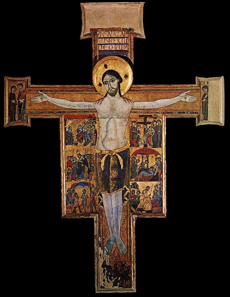 Romanesque painted crucifix - Google Search