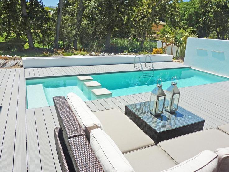De Zalze, Golf Estate #decking in Xavia colour. Stunning #pooldeck http://www.eva-tech.com/en/