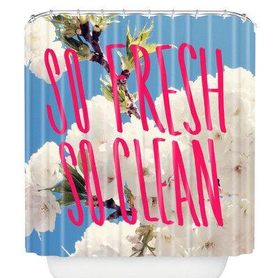 East Urban Home Leah Flores So Fresh So Clean Shower Curtain