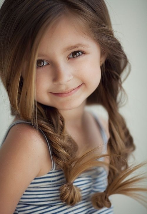 25 Cute Hairstyle Ideas for Little Girls. For when Maddie will let me do her hair. Thats so cute
