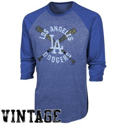 Los Angeles Dodgers Retro Raglan Three-Quarter Sleeve T-Shirt #dodgers #mlb #ladodgers