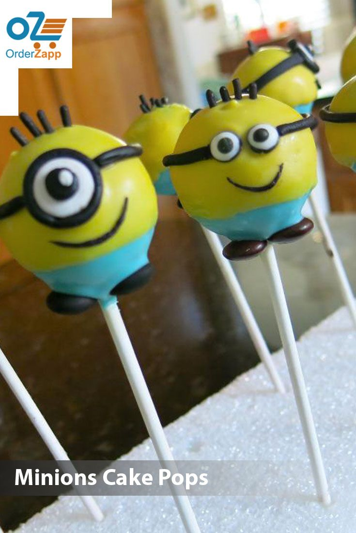 Minion marshmallow Cake Pops