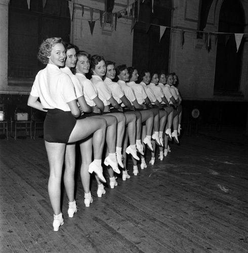 Tiller Girls rehearse, 1953 Art Print by Mirrorpix Easyart.com