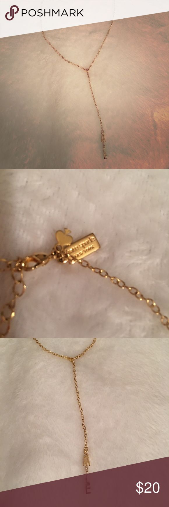 Kate spade necklace -20 chain  -18 karat gold plated  -only worn once or twice kate spade Jewelry Necklaces