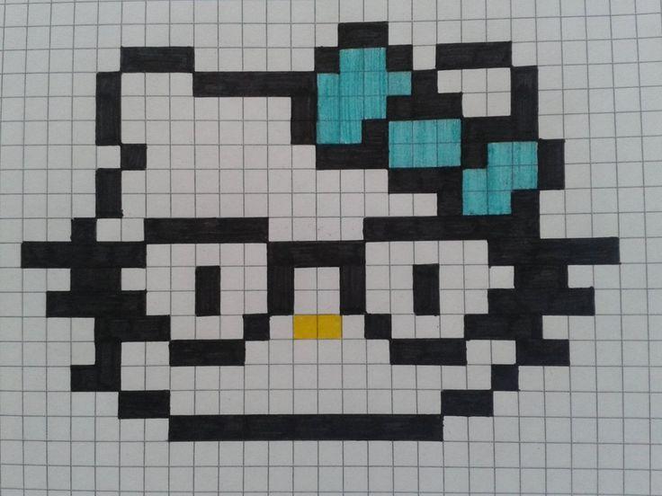 Nerd Hello Kitty perler pattern by DeiDeiCat98 on deviantART
