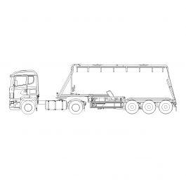 Cargo lorry CAD block