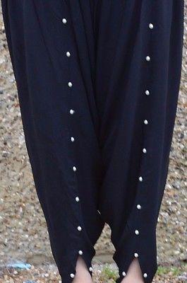 Ladies Pakistani designer tulip shalwar trousers cigarette pants salwar