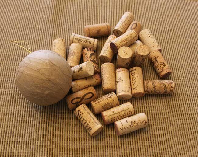 Wine Cork Ball - supplies