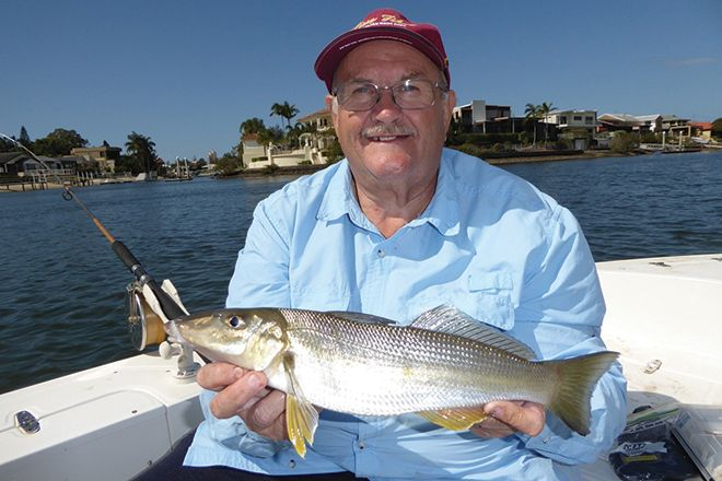 Fresh bloodworms were the bait used by Pete to catch this 40cm whiting.