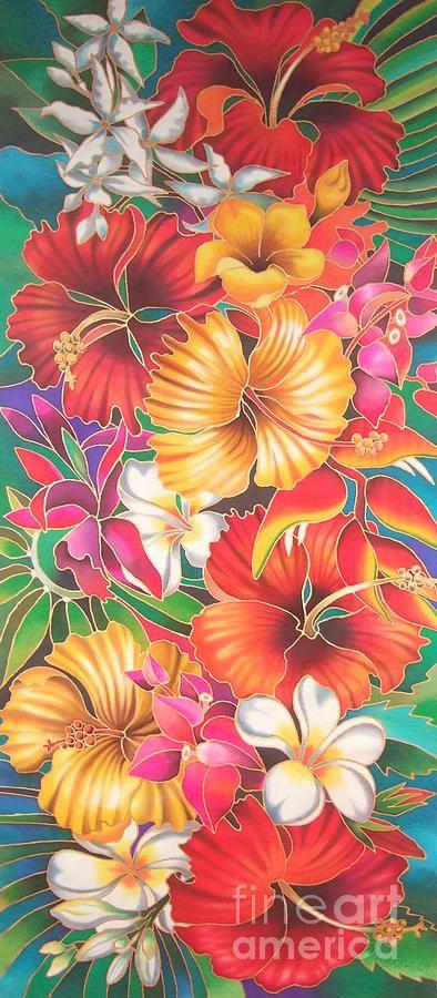 Fiji Flowers IIi Painting  - Maria Rova