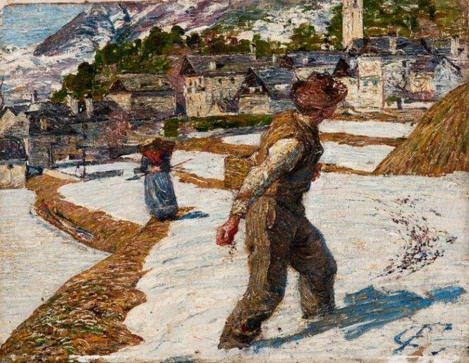 """Carlo Fornara - Il seminatore"""", 1895, olio su tela, Pinacoteca Fondazione Cassa di Risparmio di Tortona"""