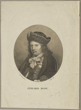 Josef Anton Selb: portret van Gerard Dou. ca. 1801-1875. Staatsbibliothek, Berlin.