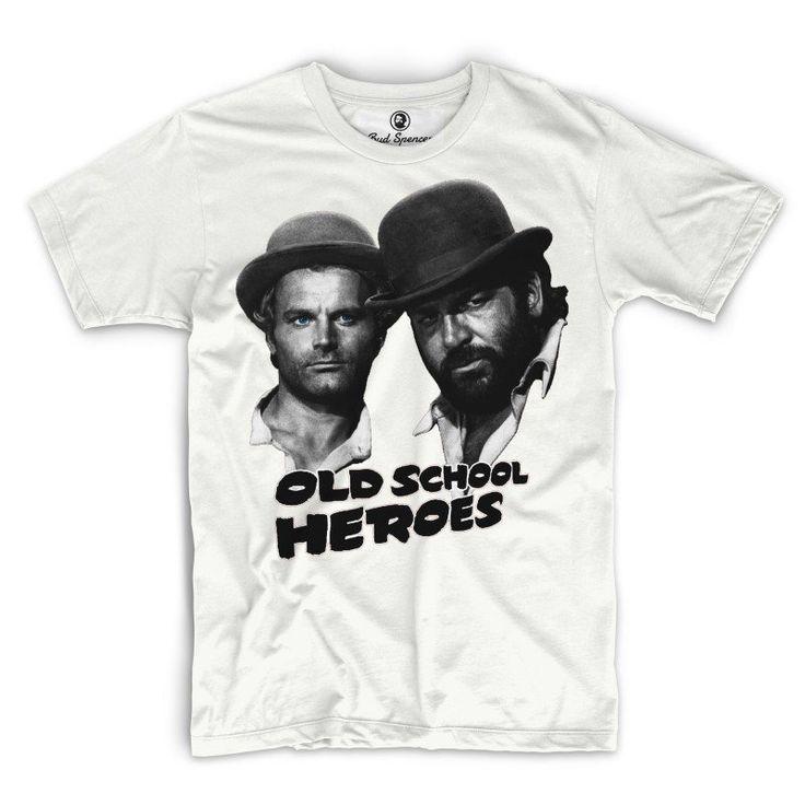 Old School Heroes – T-Shirt Weiss