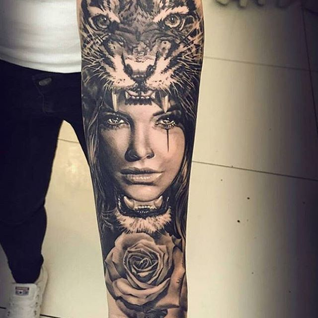 Tattoo Designs Woman Portrait: Смотрите это фото от @tattoobild на Instagram • Отметки