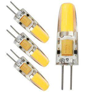Kakanuo 4pcs G4 LED Ampoule 2W COB Blanc Chaud 2700K N0n-Dimmable AC/DC12V Remplacement A Lhalogène 180LM 1*1505COB Epistar 360 dégrées…