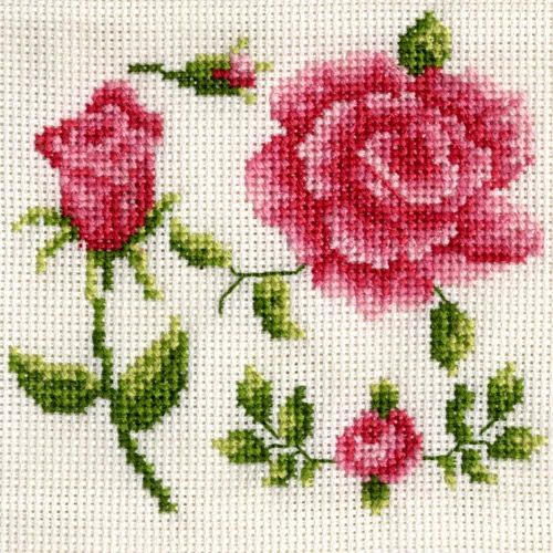 Cross Stitch Roses free DMC pattern (from their online shop)