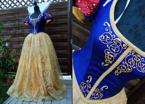 disney fashion lace cosplay london pearls details snow white Disney Princess costumes progress snowwhite corset historic mcm expo Kassel con...
