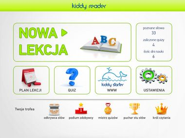 Nauka czytania dla małych dzieci. Bawiąc się z Kiddy Reader dziecko poznaje nowe słowa, uczy się ich brzmienia i w efekcie potrafi samodzielnie odczytać. Prosta i efektywna zabawa słowami pomaga dzieciom rozwijać koncentrację i pamięć.