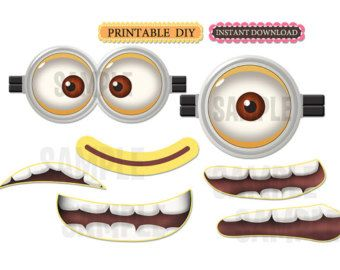 picture about Printable Minions Eyes called Minion+Mouth+Template+Printable Printing/ Letters in just 2019