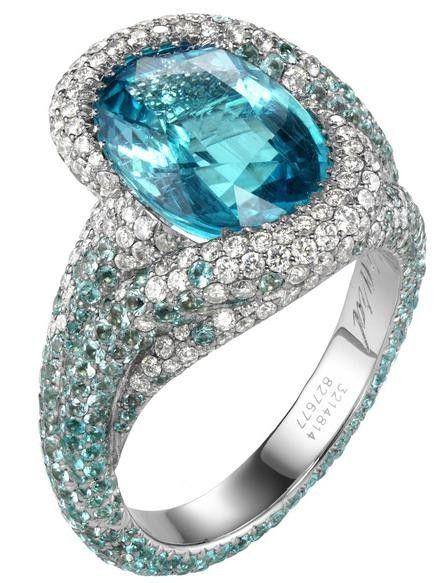 Chopard Paraiba tourmaline, tourmaline and diamond ring