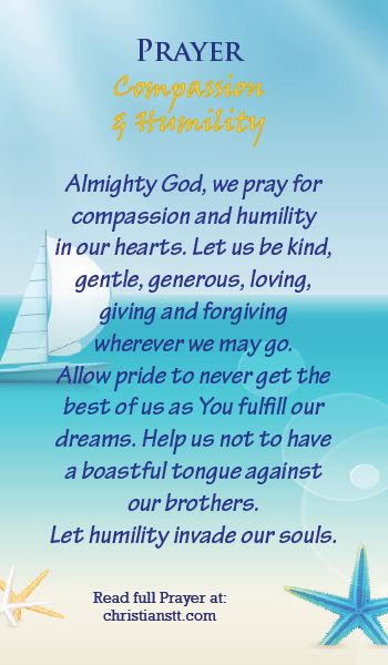 Prayer for Compassion and Humility