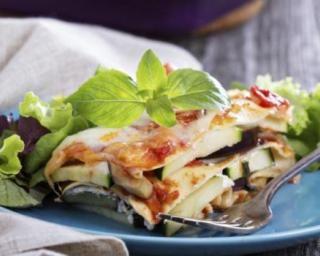 Lasagnes allégées courgette et aubergine