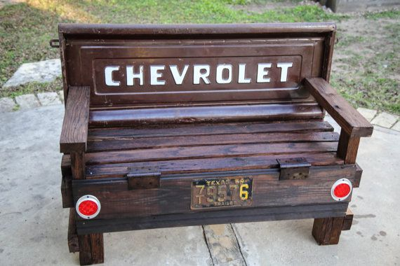 Chevrolet tailgate bench!  Check out our Etsy shop for more designs.