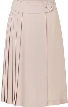Tara Jarmon Rose Pleated Skirt on shopstyle.com