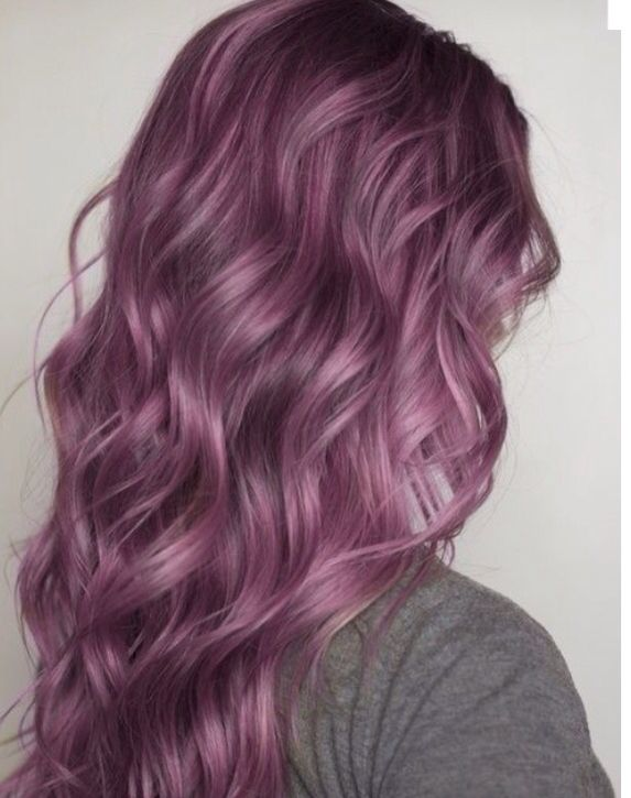 · pinterest: @mayaxnicolexdes · Purple Violet Red Cherry Pink Bright Hair Colour Color Coloured Colored Fire Style curls haircut lilac lavender short long mermaid blue green teal orange hippy boho Pulp Riot
