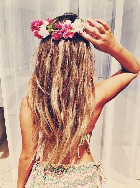 Breathe in the summer - Blumenkranz im Haar ist ein super süßer Sommer Haarschmuck