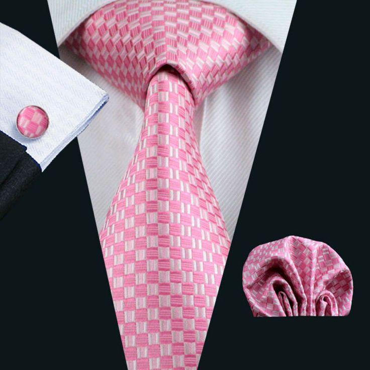 Necktie - Woven Jacquard silk in solid coral pink Notch Bsz5VUM