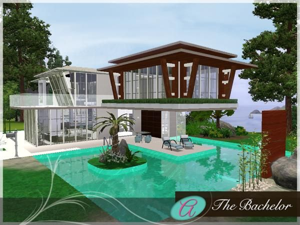 83 best sims 3 and 4 houses images on pinterest the sims for Pool design sims 3