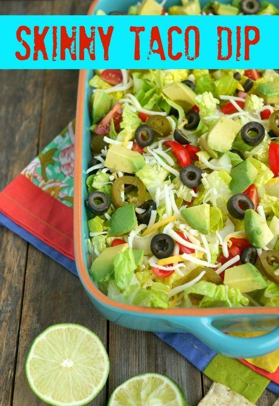 Skinny Taco Dip Recipe — Dishmaps