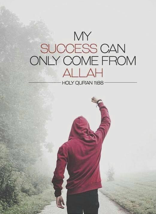 Beautiful Islamic Quotes - My success can only come from Allah | Holy Quran 11:88