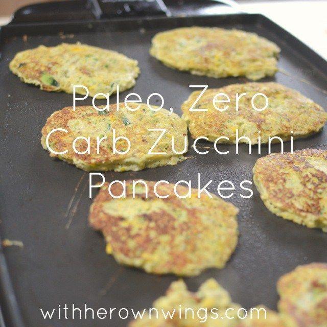 Zucchini low carb pancakes