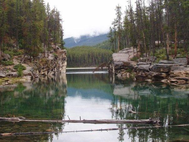 Entrance to Horseshoe Lake, Jasper National Park.: Jasper National Parks