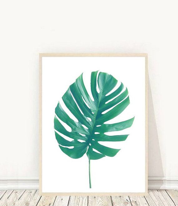Prints from $7.92 on Etsy Monstera Leaf Print Tropical Leaf Printable Art Palm Art