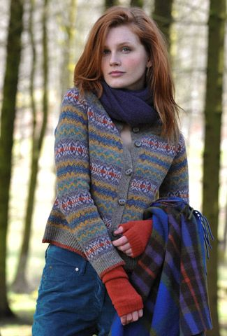 Shetland Fair Isle Cardigan Inspiration, color and pattern