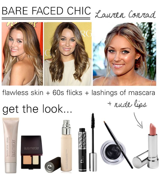 Lauren Conrad is my beauty crush! I think her fresh faced, chic make up would be perfect for a wedding.