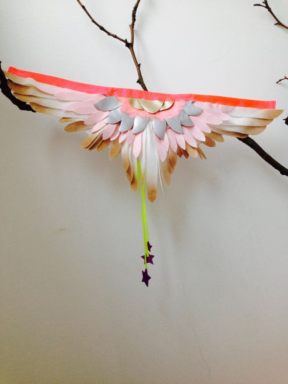 Beautiful Children's Dressing-up Costume Feather Party Wings Liberty lined