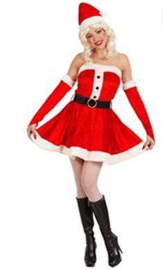 Dames kerstjurkje rood fluweelFluwelen kerstjurkje voor dames. Een mooi rood jurkje met witte bontranden om de kraag, polsen en onderrand. Fluweren kerst pakje voor dames is gemaakt van rood fluweel en wit pluche. Dit kerst pakje voor dames bestaat uit het jurkje en de riem. Kerst kostuums bij Fun en Feest #kerstjurkjes