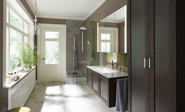 #marron #brown #salledebain #bathroom #Sana #Burgbad #meubles #meublessalledebain