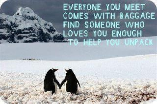 : Baggage, Sweet, True Love, So True, Penguins, Love Quotes, Weights Loss, True Stories, Finding Someone Who
