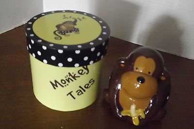 Monkey Tales Ceramic Bank with Gift Display Box New Nursery Ape Chimp Izzy | eBay